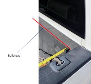 Measure the bulk head