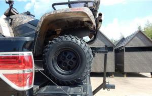 ATV in truck