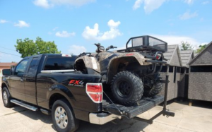 Hauling an ATV with tonneau cover
