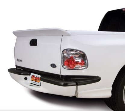 white truck with spoiler