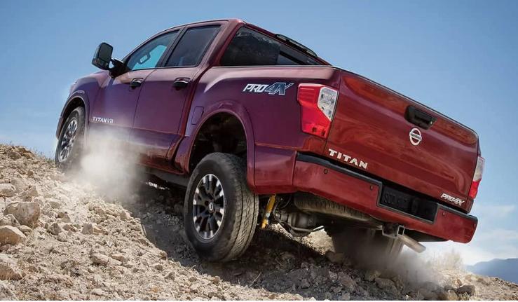 Nissan Titan on rocks
