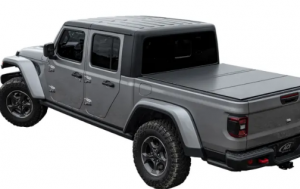 Pickup truck with tonneau cover installed